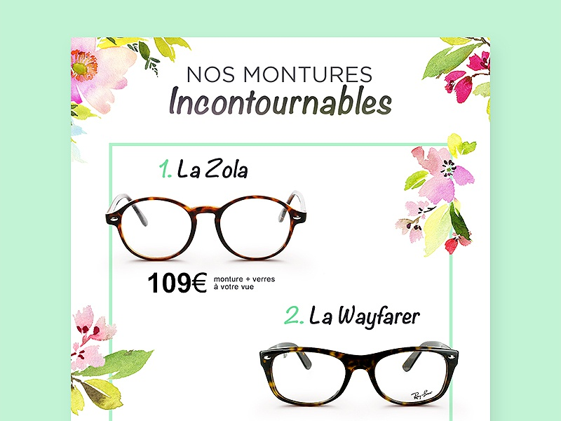 Email Newsletter green white ux ui newsletter inspiration glasses flowers eyeglasses email clean