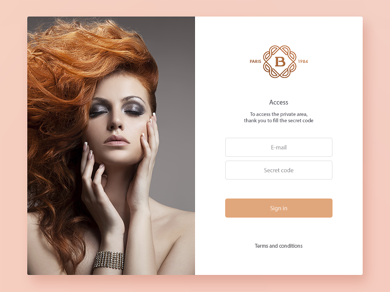 Login inspiration store ui ux redesign shop luxury interface clean