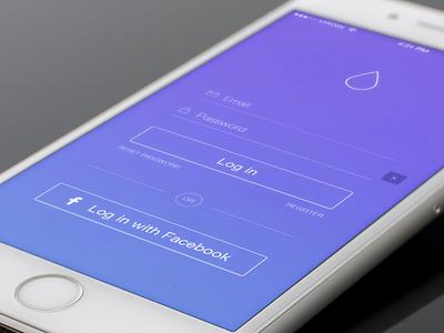 Chopon iPhone Login Screen inspiration purple app login ios ui design ios login login iphone