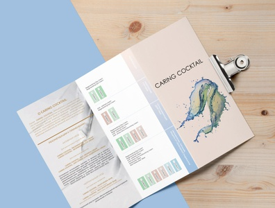 Brochure for an cosmetic brand cosmetic brochure design