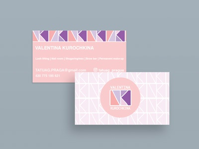 Business card card logo monogram