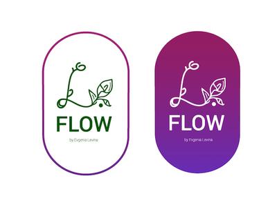L.Flow-flower shop logo