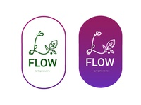 L.Flow-flower shop logo