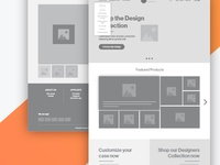 New Project Wireframes