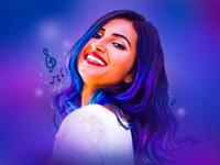 Digital Portrait - Vidya Vox