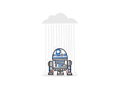 Sad R2D2 carrie fisher princess leia star wars force droid sadness rip jedi r2d2 leia