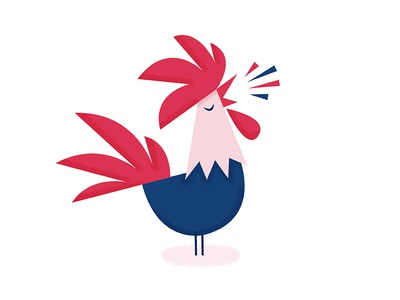 cocorico by simon sek dribbble rh dribbble com Chicken Silhouette Clip Art Chicken Silhouette Clip Art