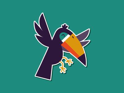 Just a happy toucan. wildlife happy brazil mule sticker bird toucan sticker mule illustration