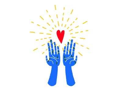 ✨ ❤️ ✨ sticker mule light heart hands hope generosity giving love charity rebound illustration sticker