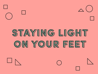 Light on your feet blog nonprofit transparency geometric shapes typography type