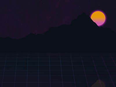 Synthwave Theme retro synthwave black orange blue pink