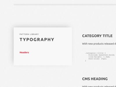 Pattern Library styleguide pattern shadow black typography ubuntu red texture grey