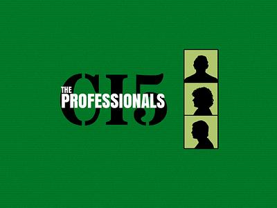 The Professionals 70s white black green tv