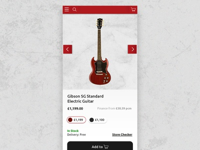Music Store product mobile magento ecommerce black red