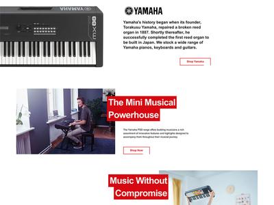 Landing Page music css grid black red