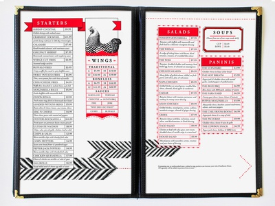 Rockafellas Menu
