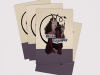 Lady Krampus card design