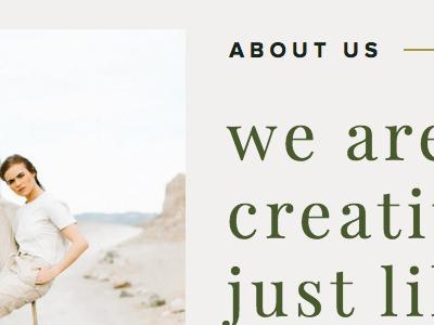 Website Work in Progress minimal showit typography web design website