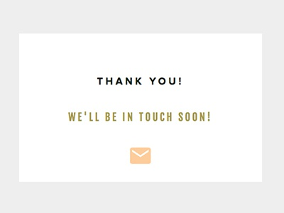 Contact Form Thank You showit minimal google fonts typography web design website