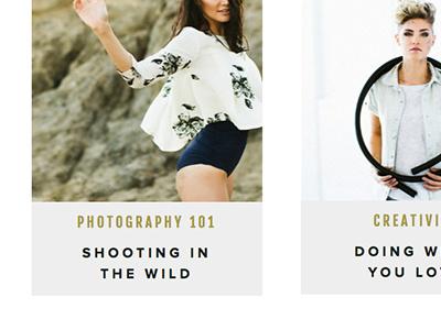 Blog Posts Page showit minimal blog grid typography web design website