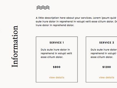 Go Live District Theme Services Detail showit branding minimal typography website web design web theme
