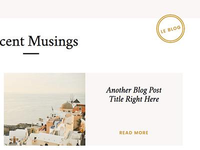 Go Live District Theme Blog Detail ui showit blog design minimal typography website web design web theme