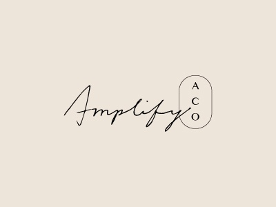 The Amplify Collective Logo monogram hand-written logo brand identity branding logo