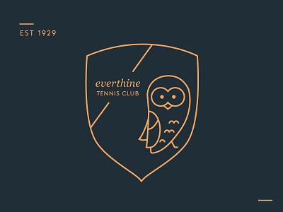 Everthine Tennis Club Logo vector crest brand identity branding logo