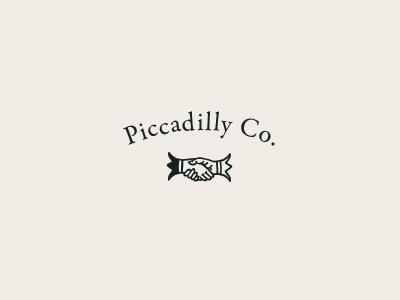 Piccadilly Logo old-timey vector brand identity branding logo