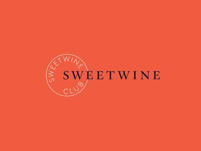 Sweetwine Club Branding typography logo branding