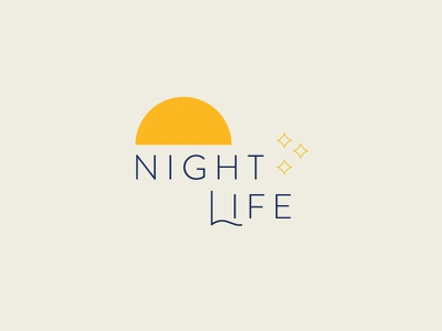 Night Life Graphic branding typography vector illustration