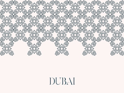 Dubai Graphic typography vector pattern