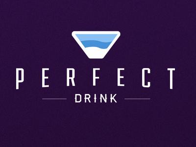 Perfect Drink Logo identity iconography typography