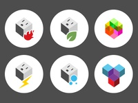Cube iconography system