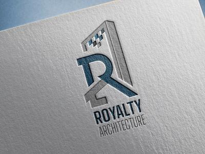 royalty architecture graphic design vector illustration logo design branding