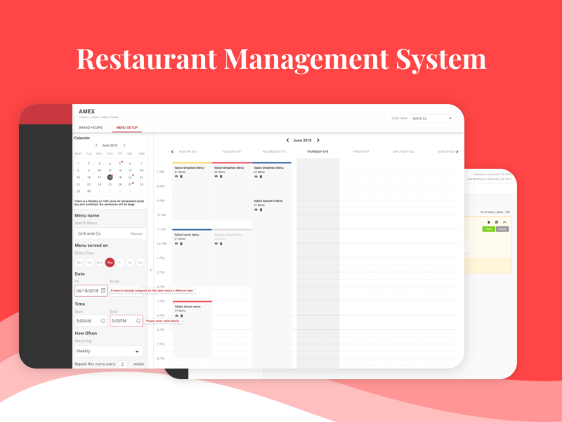 Assign menu's