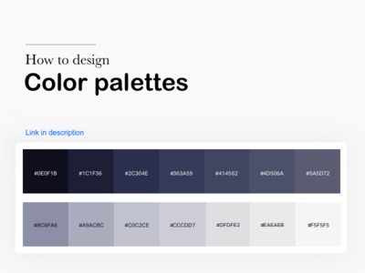 How to design color palette ? how to color palette color app simple web application website design ui