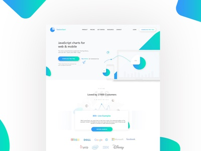 Fusionchart Landing Page Reimagination ui javascript chart ux ui design