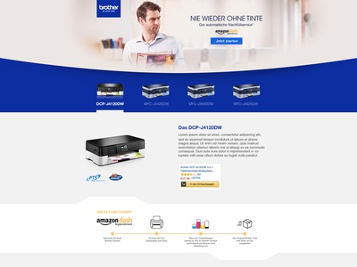 Brothers Printer  Landing Page