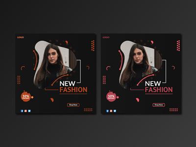 New Fashion Social Media Post Design colors