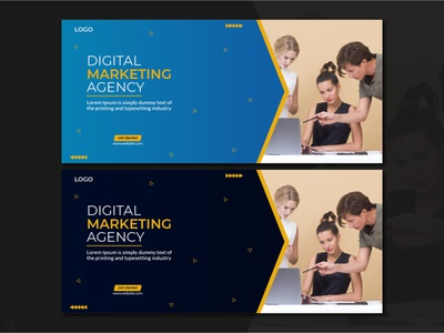 Digital Marketing Agency Social Media Cover colors