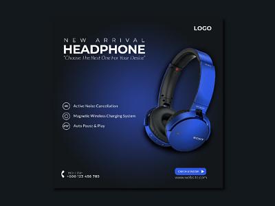 Headphone Social Media Post colors