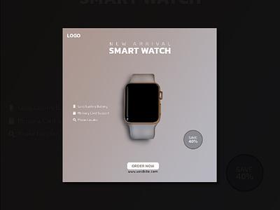Smart Watch Social Media Post vector