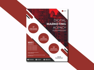 Digital Marketing Agency Corporate Flyer Design creative flyer