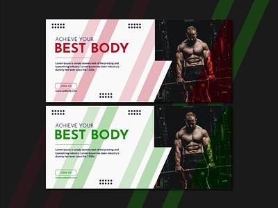 Gym Social Media Cover colors