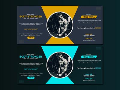 Gym Social Media Cover Design colors