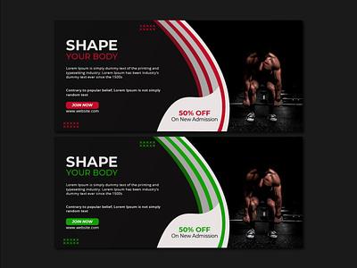 Gym Social Media Cover gym colors
