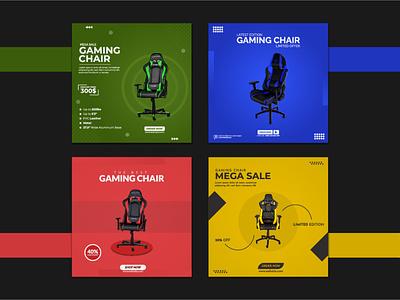 Gaming Chair Social Media Post colors