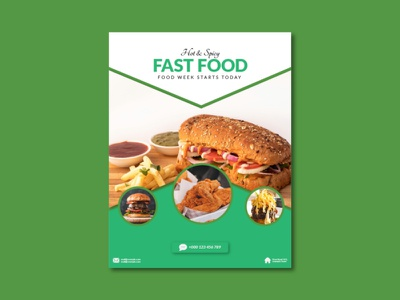 Fast Food Flyer Design creative flyer