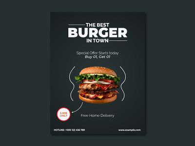 Burger Flyer Design creative flyer
